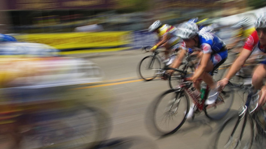 Tour de france cyclists, image shows blurs of motion